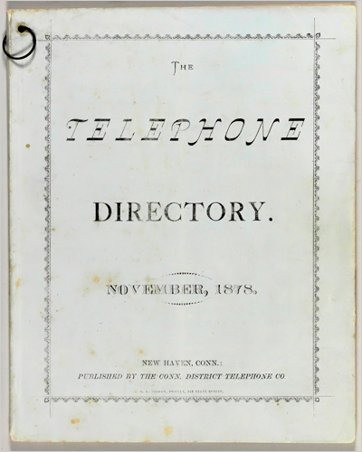 New haven guia telefonica 1878