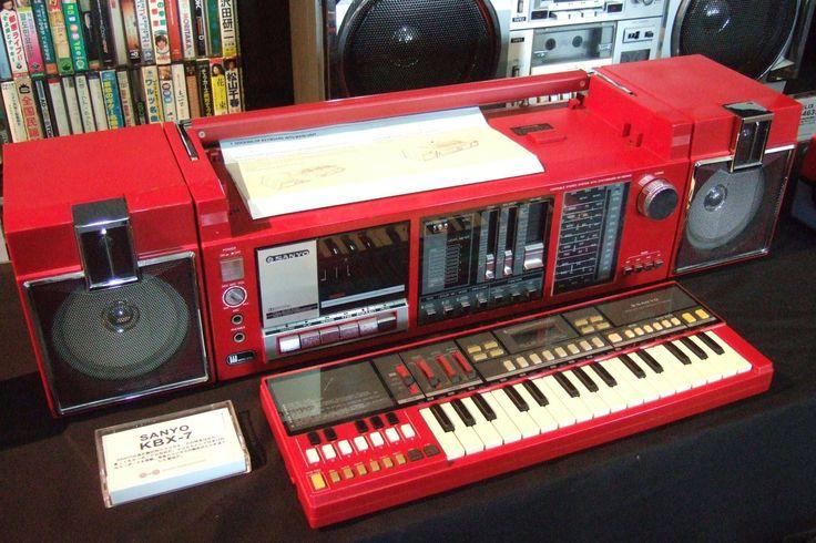 radiocasette Sanyo KBX-7 sintetizador