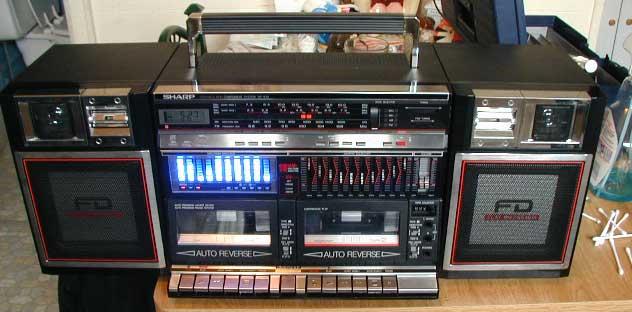radiocasete Sharp WF-939 leds azules