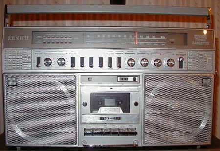 radiocasette Silver Zenith