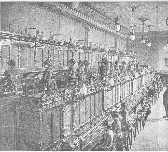 antigua centralita telefonos