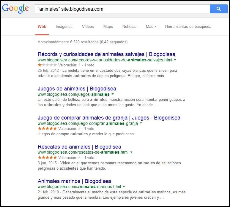 buscar google sitio web