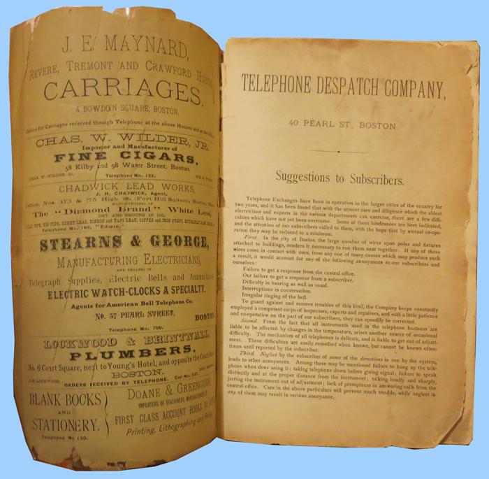 guia Telephone Despatch Company 1880