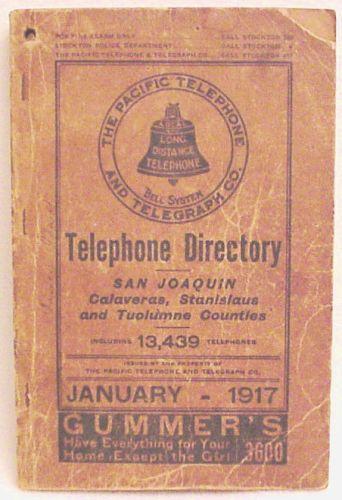 guia telefonica 1917 San Joaquin