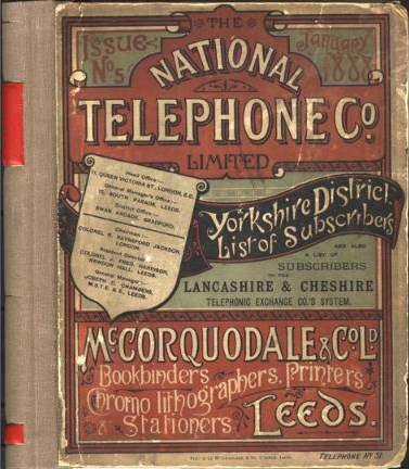 national telephone company guia telefonos yorkshire 1888