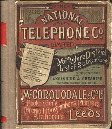 national telephone company guia telefonos yorkshire 1888