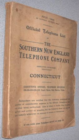 paginas blancas 1905 Connecticut