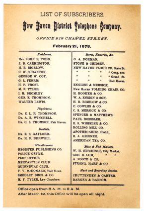 primer listin telefonico 1878