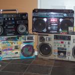 Radiocasettes retro vintage de los 80