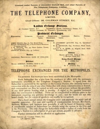 the telephone company