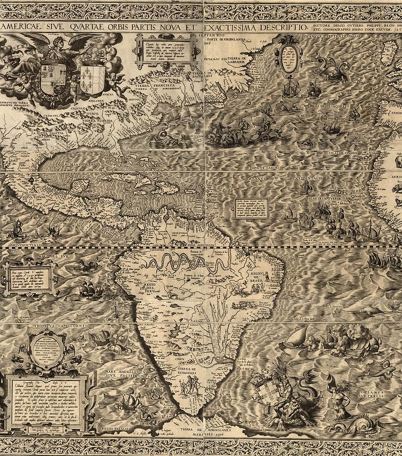Abraham Ortelius mapa america 1570