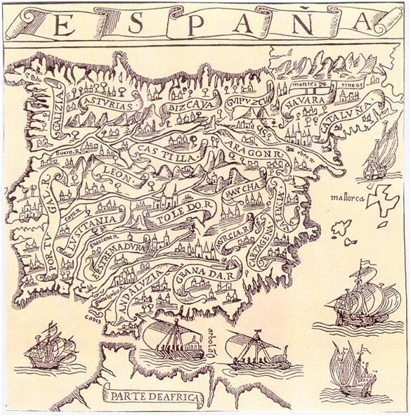 Mapa Espana Pedro Medina