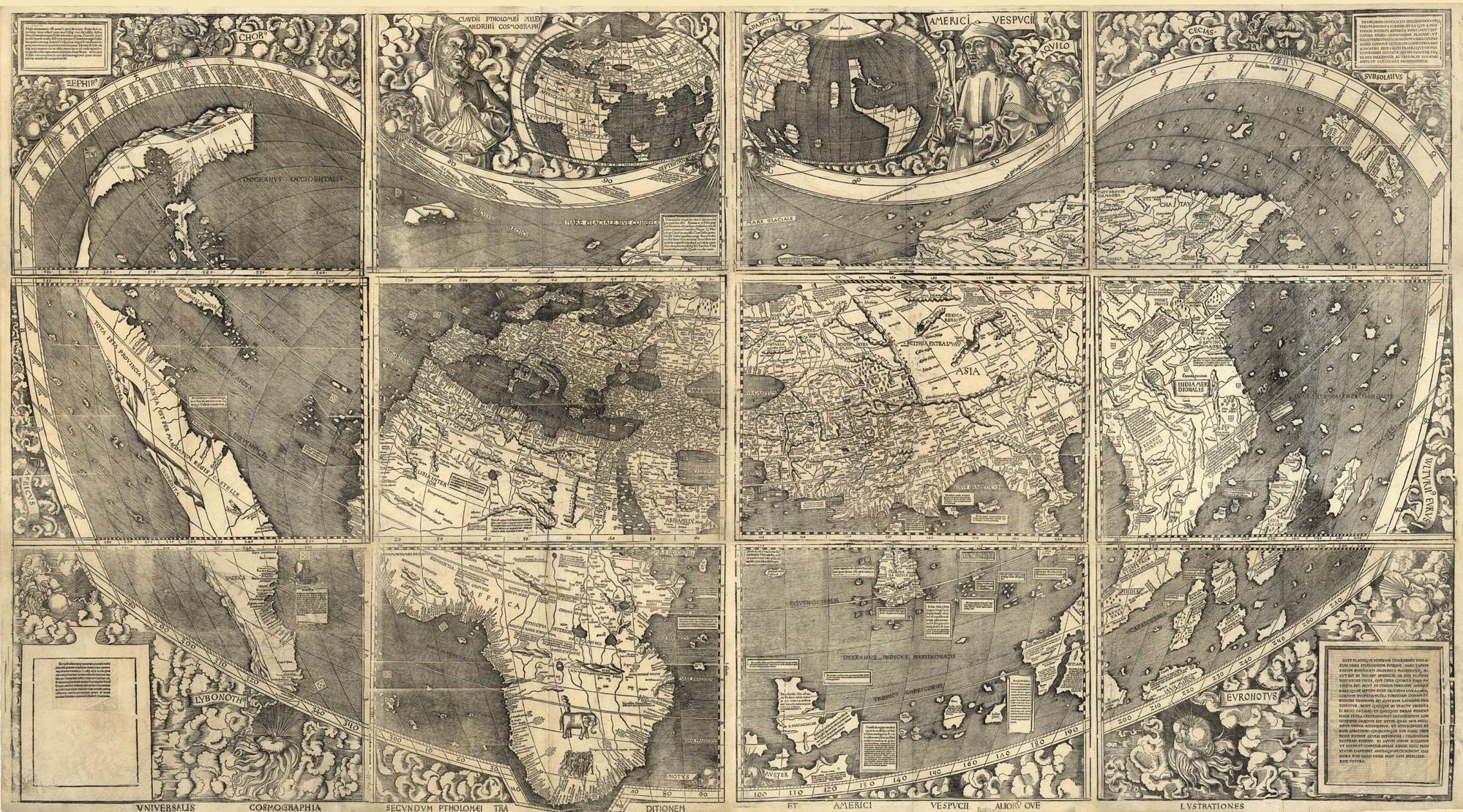Mapa de Waldseemuller 1507