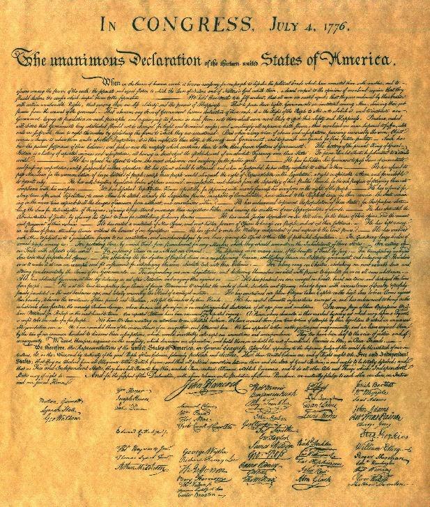 declaracion independencia estados unidos