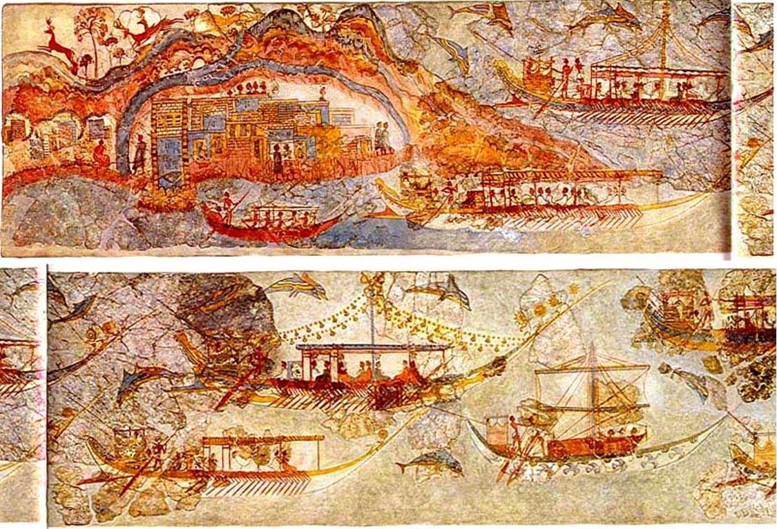 frescos santorini atlantida