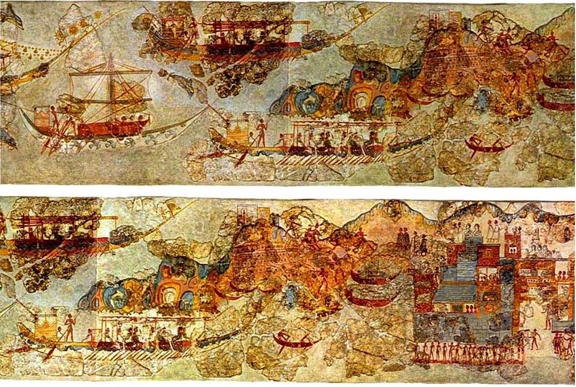 frescos santorini rutas marinas