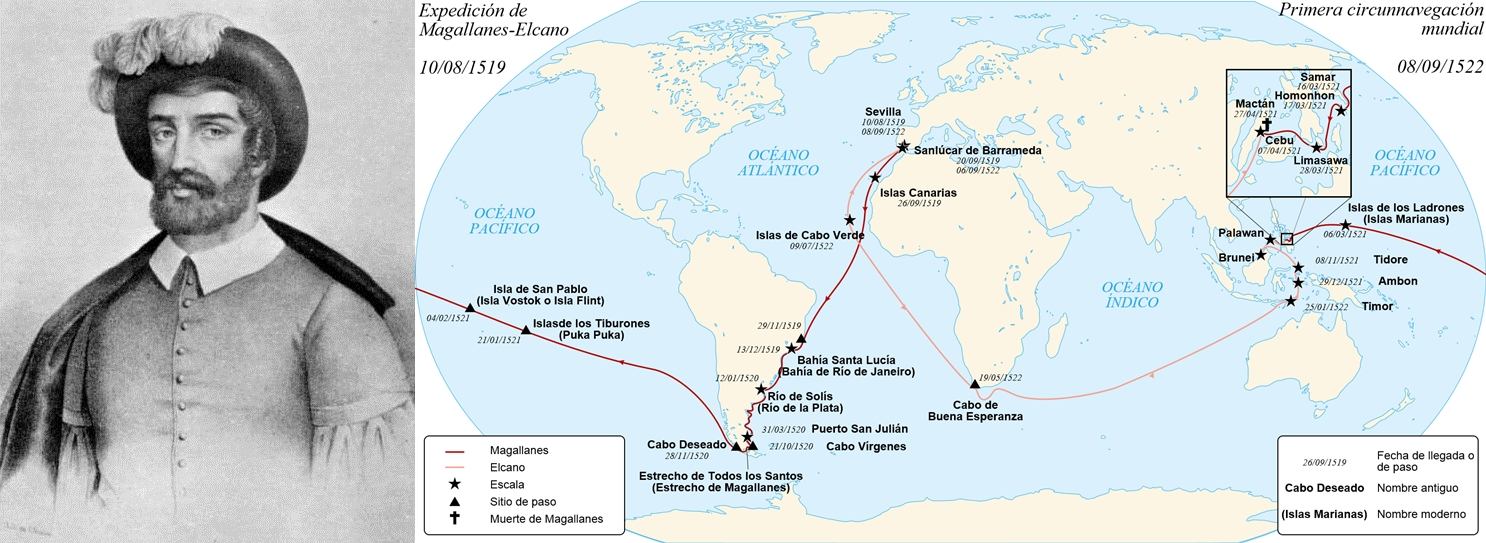 mapa magallanes elcano