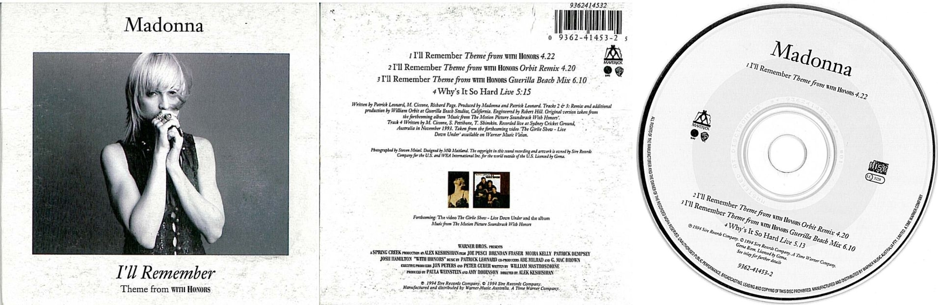 madonna ill remember cd single australia