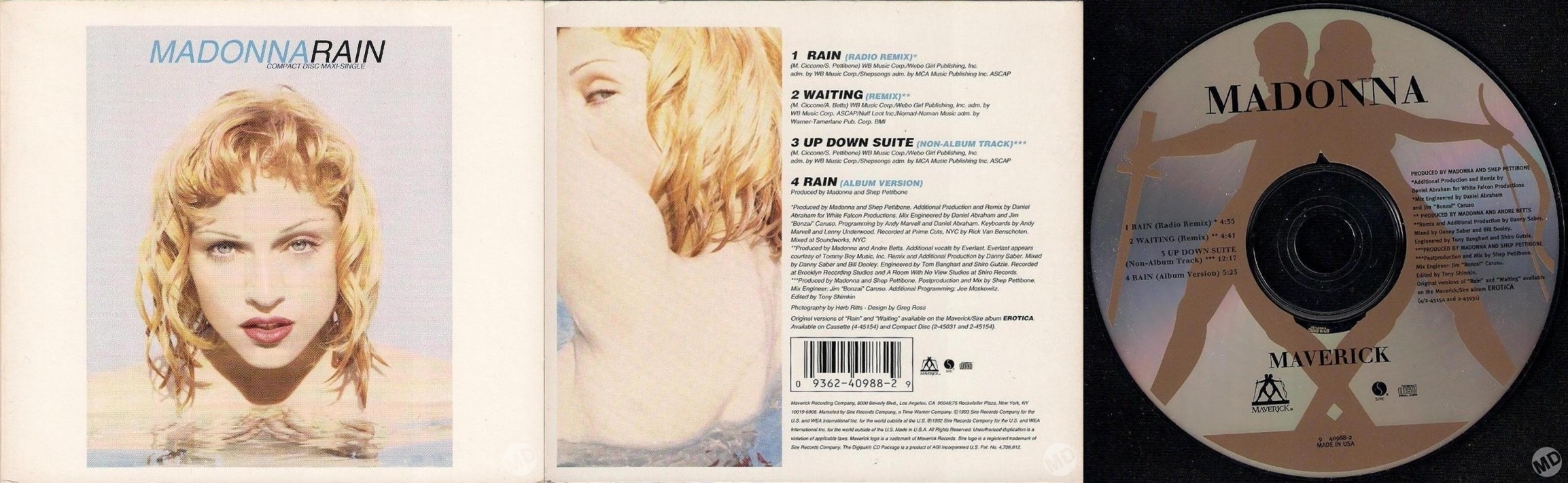 madonna rain cd maxi single usa