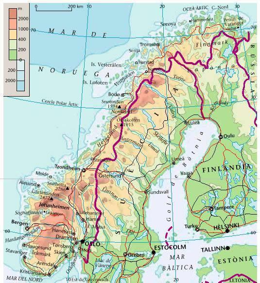 noruega mapa fisico