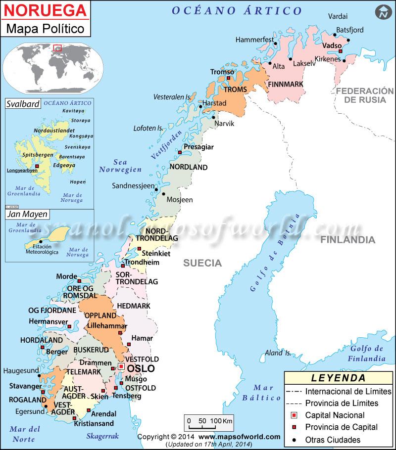 noruega mapa politico