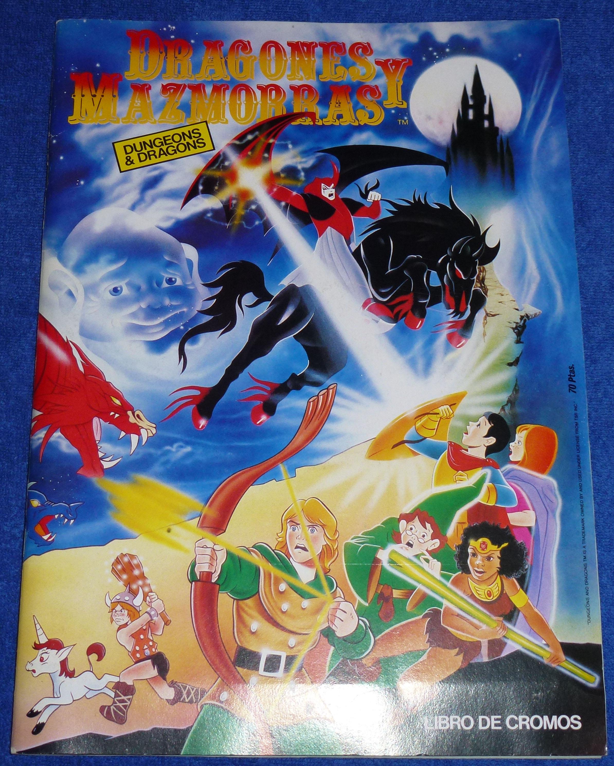 album cromos dragones mazmorras