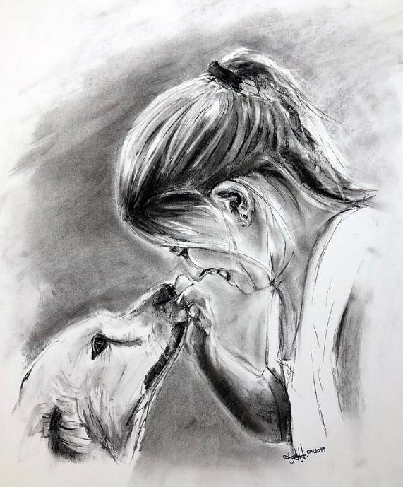 dibujo nina labrador