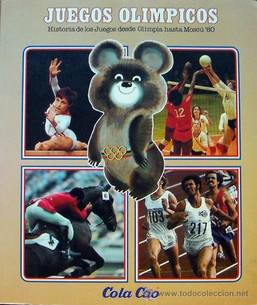 libro juegos olimpicos cola cao 1980