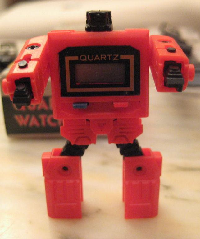 reloj robot transformer anos 80