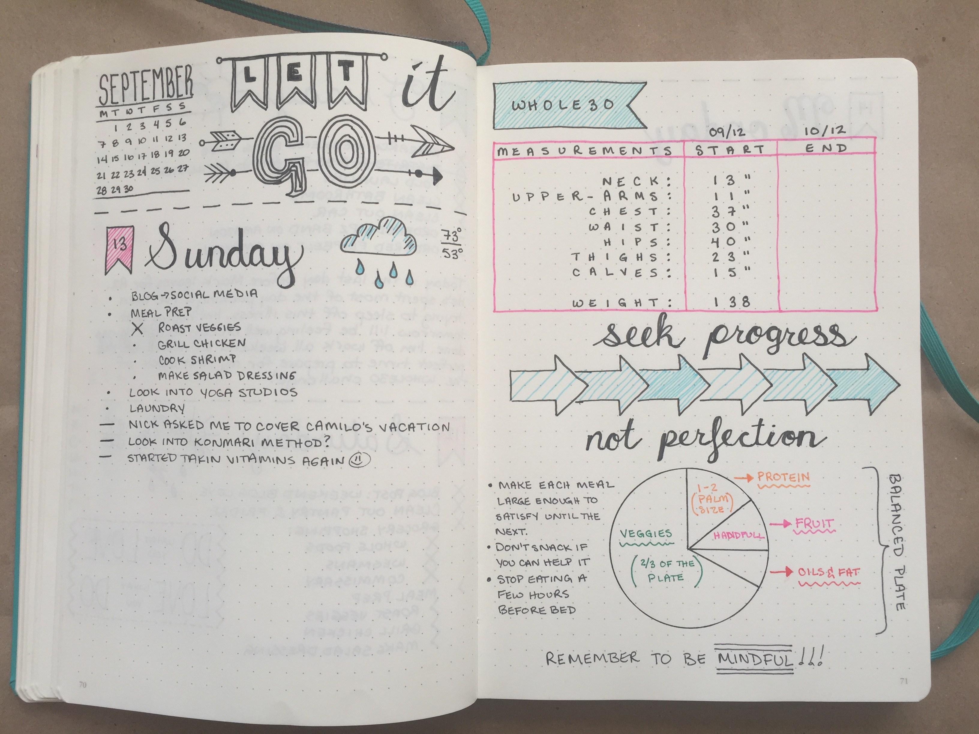 bullet journal agenda