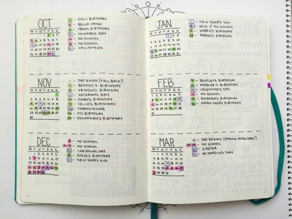 planning bullet journal