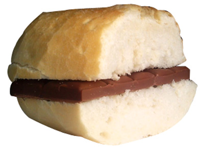 bocadillo chocolate 80