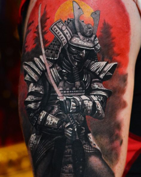 japones tatuaje samurai