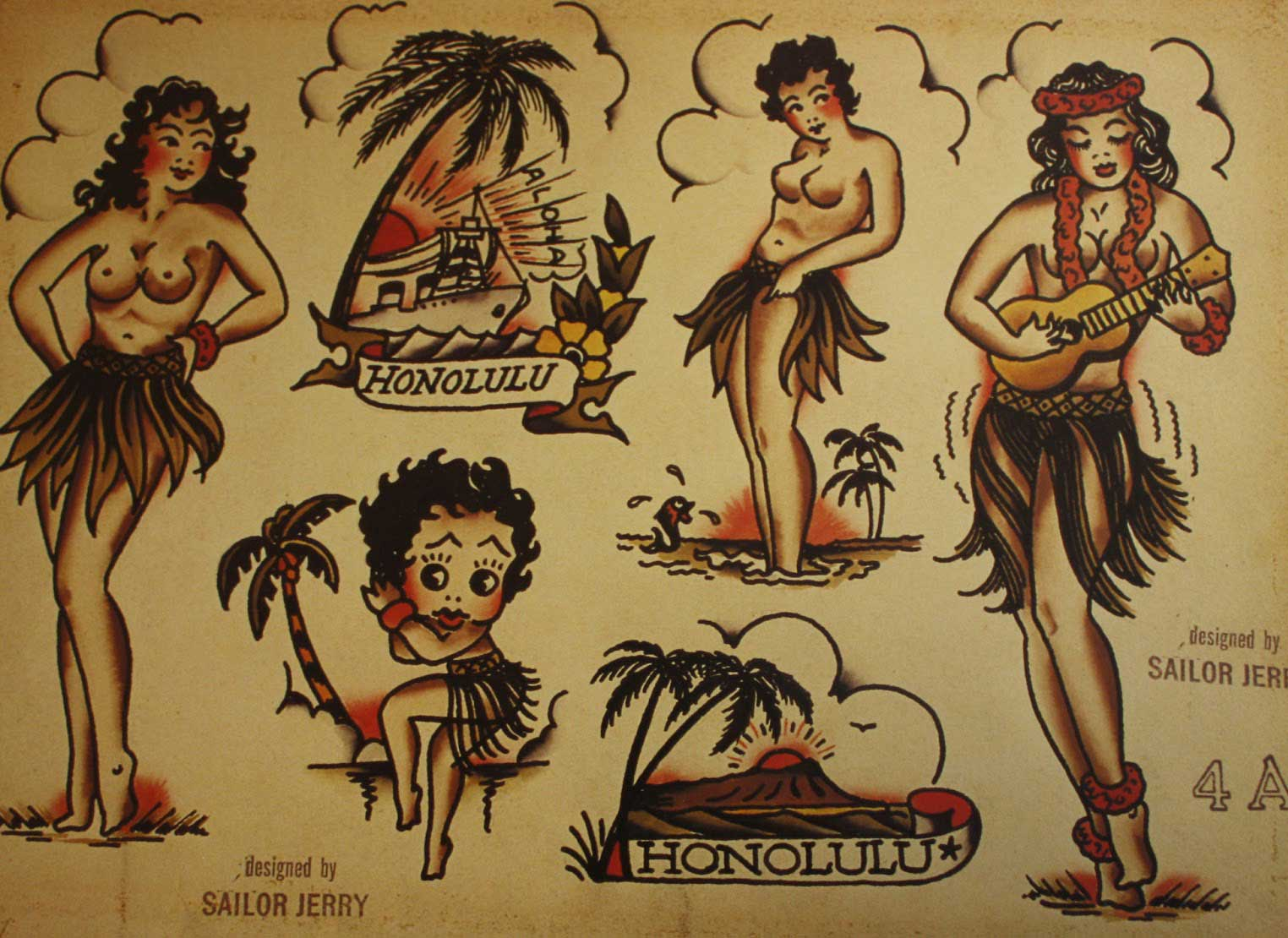 old school tatuajes pin up
