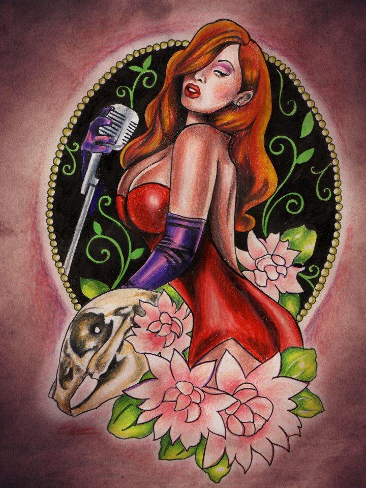 tatuaje ilustracion jessica rabbit