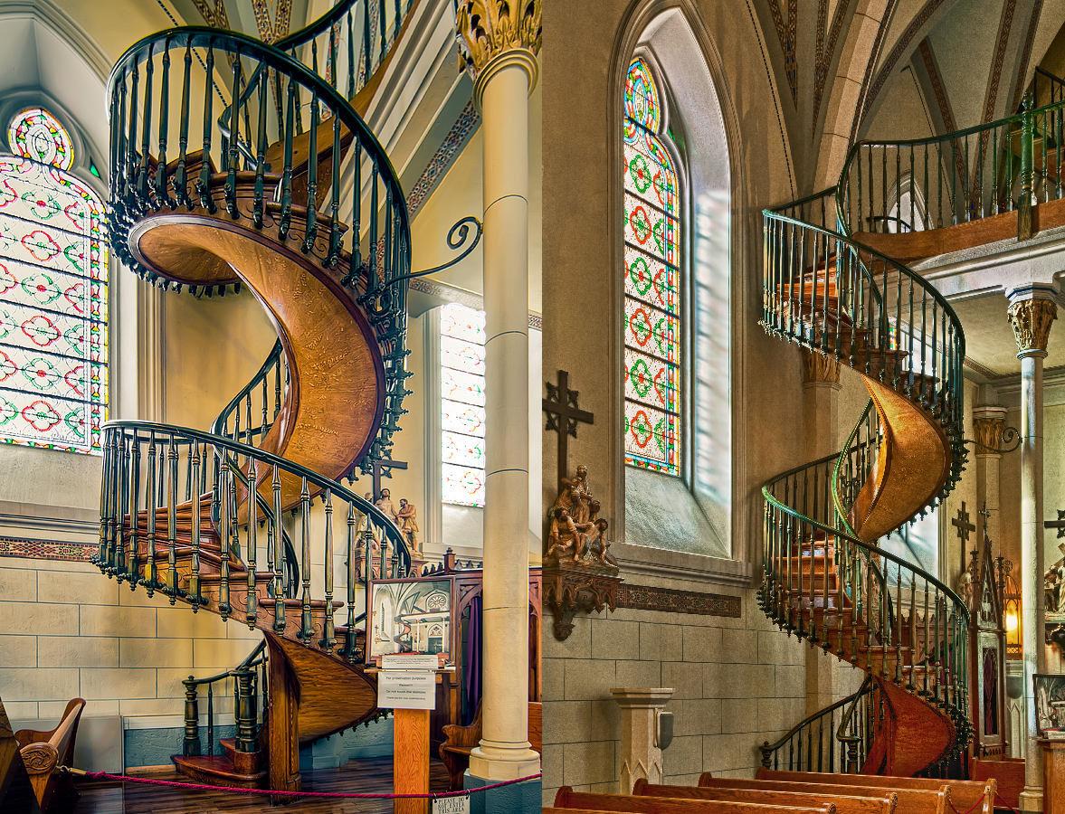 escaleras capilla loreto
