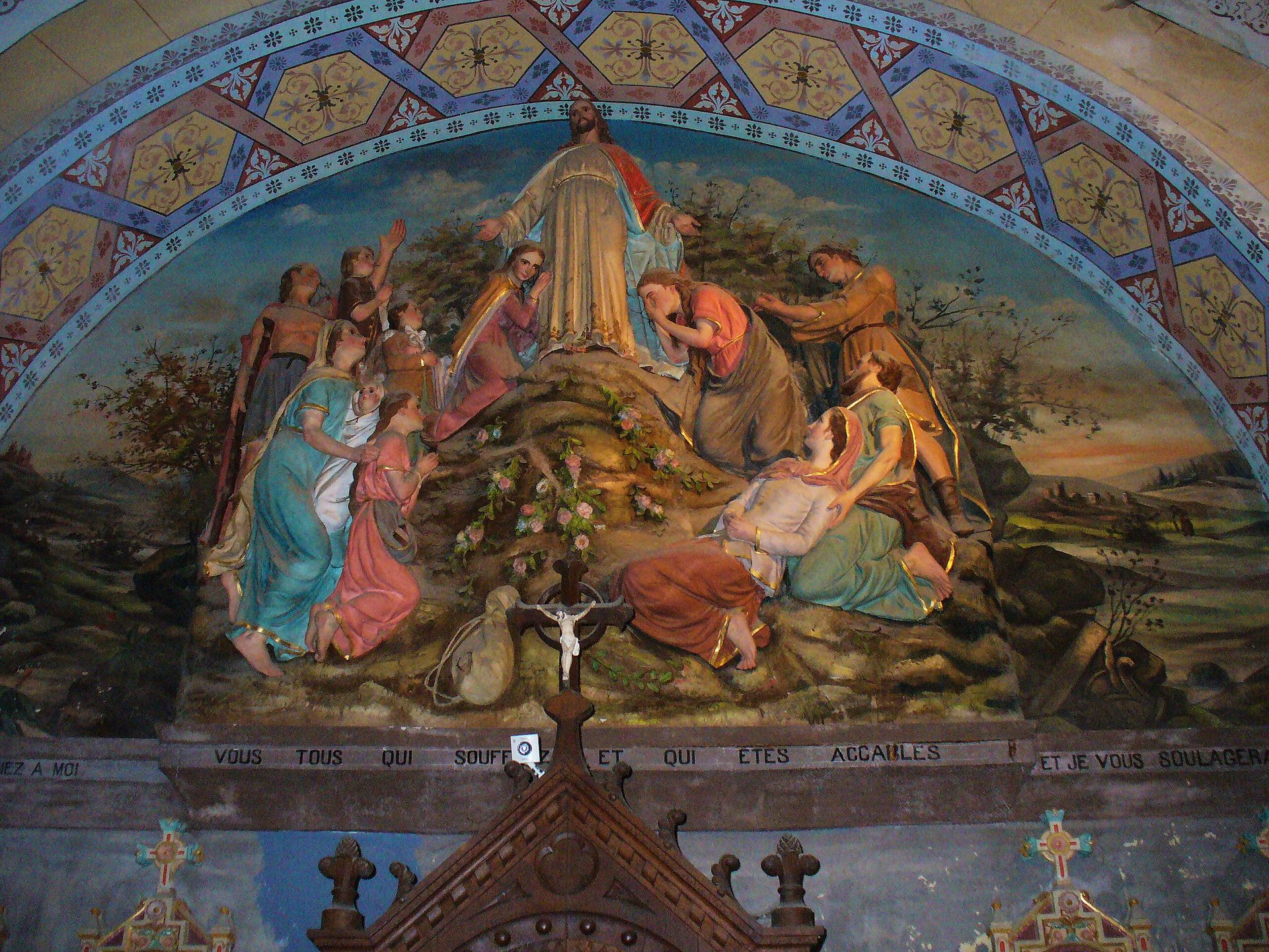 fresco sermon montana rennes chateau