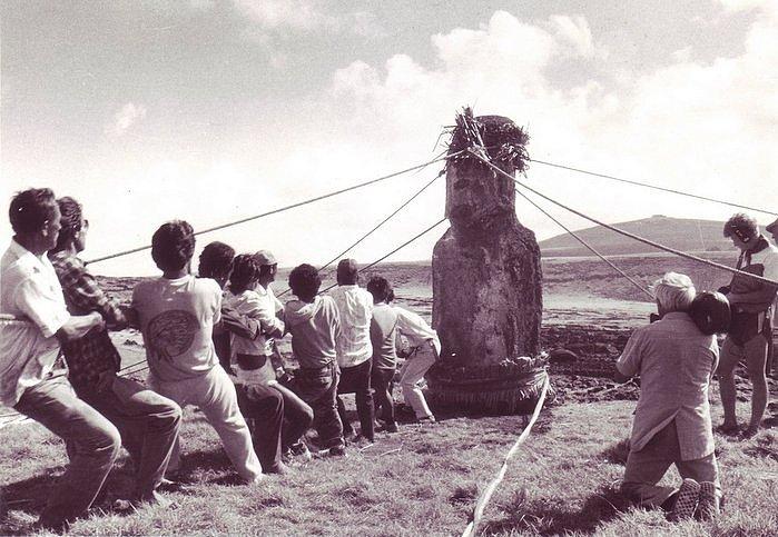 Pavel Thor Heyerdahl pascua moai mover