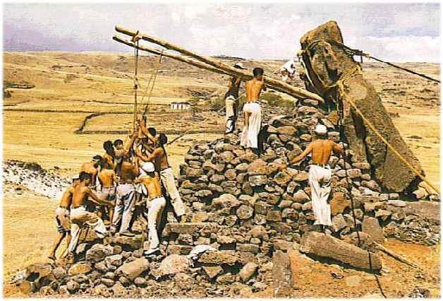 Thor Heyerdahl moai