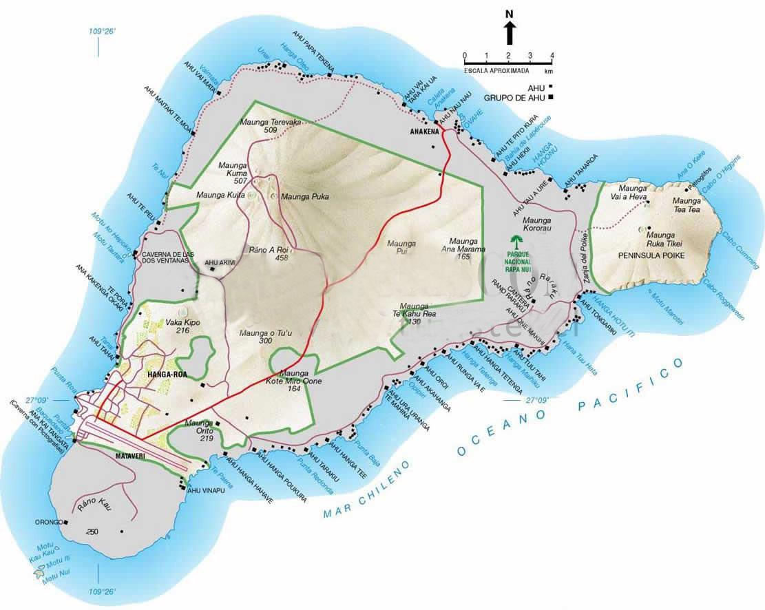 isla pascua rapa nui mapa