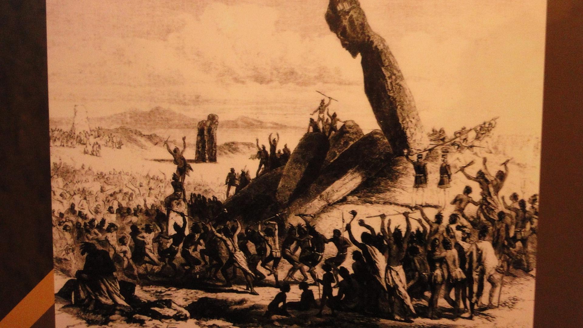 lucha guerra rapa nui pascua