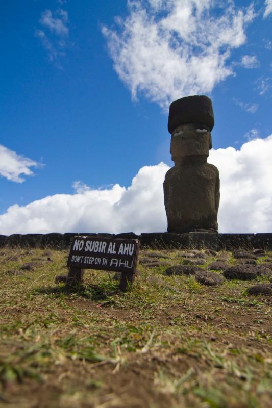 moai restaurado ahu