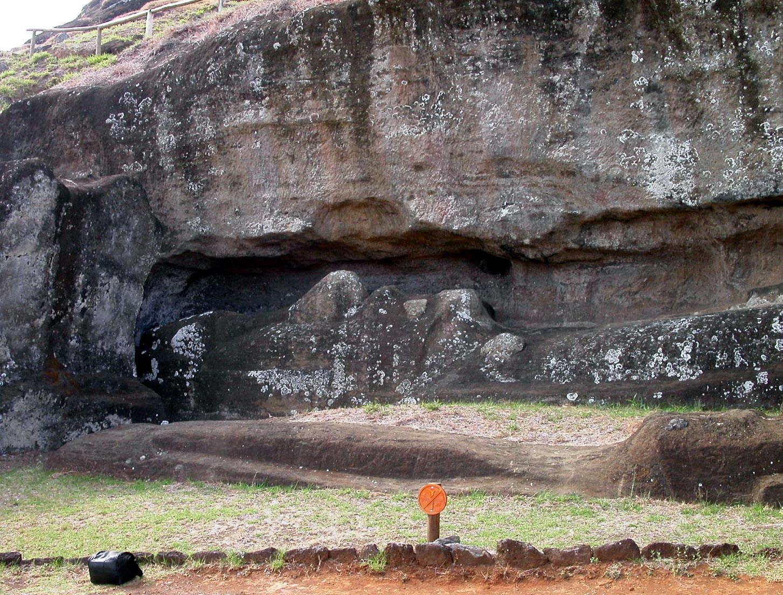 moai sin terminar roca