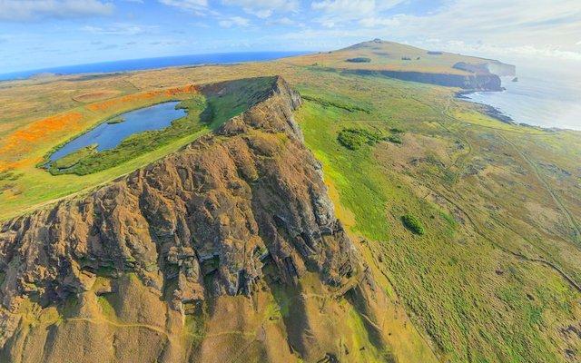 rano raraku volcan poike isla pascua
