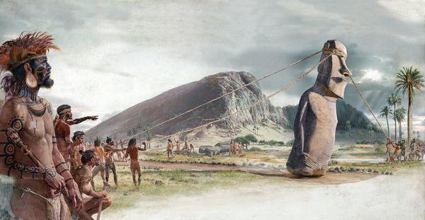 rapa nui cuerdas moais isla pascua