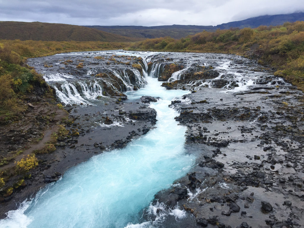 cascada bruarfoss islandia