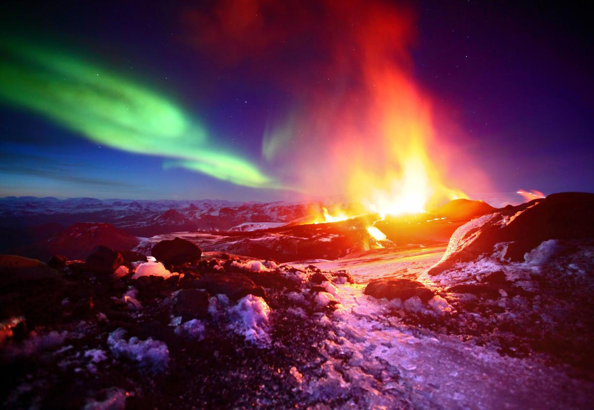 fimmvorduhals lava islandia
