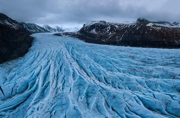 Skaftafell glacier panoramic view , Iceland