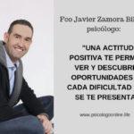 """Fco Javier Zamora Bilbao, psicólogo """"Tu bienestar depende de tu actitud; los pensamientos, las condu..."""