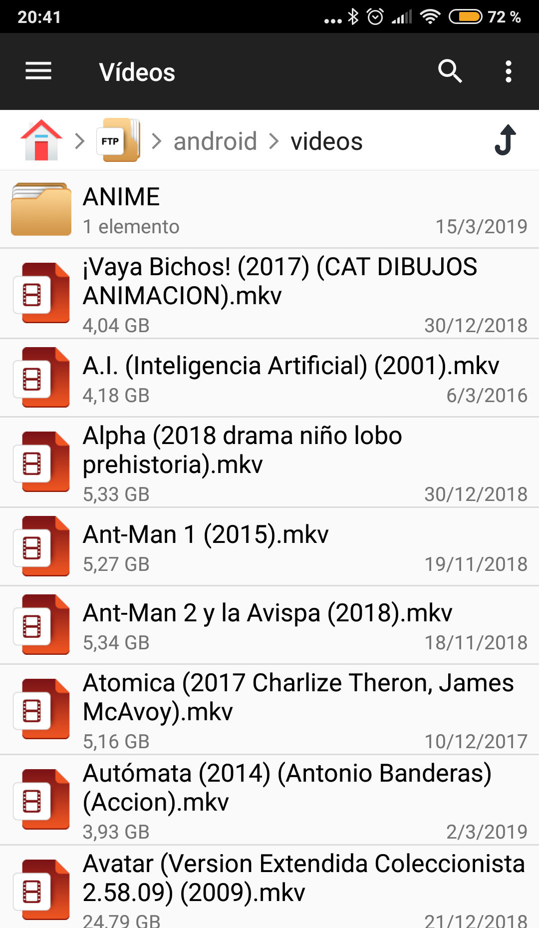 ftp android ficheros archivos